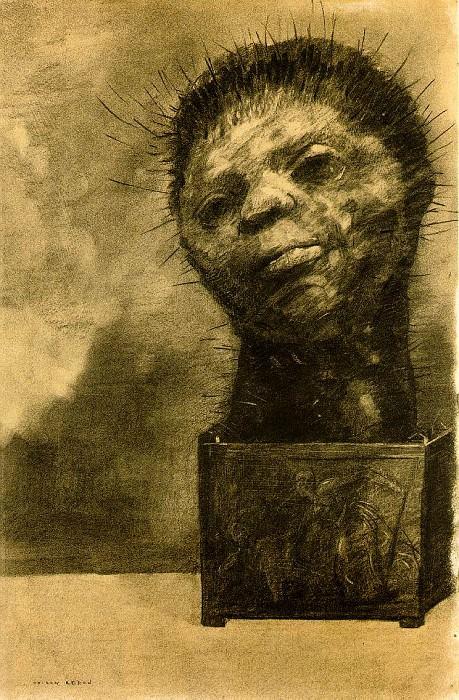 Redon Cactus man, 1881, Charcoal, 49.5x32.5 The Woodner Fami. Odilon Redon