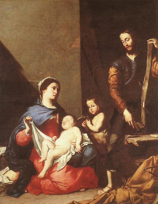 Ribera The Holy Family. Jusepe de Ribera