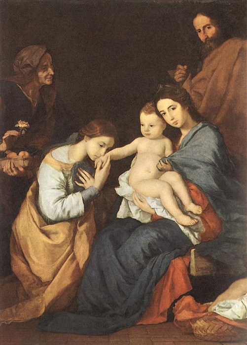 Ribera The Holy Family with St Catherine. Jusepe de Ribera