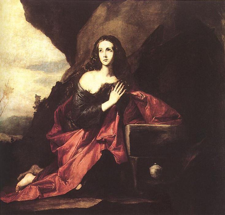 Ribera Mary Magdalene in the Desert. Хусепе де Рибера