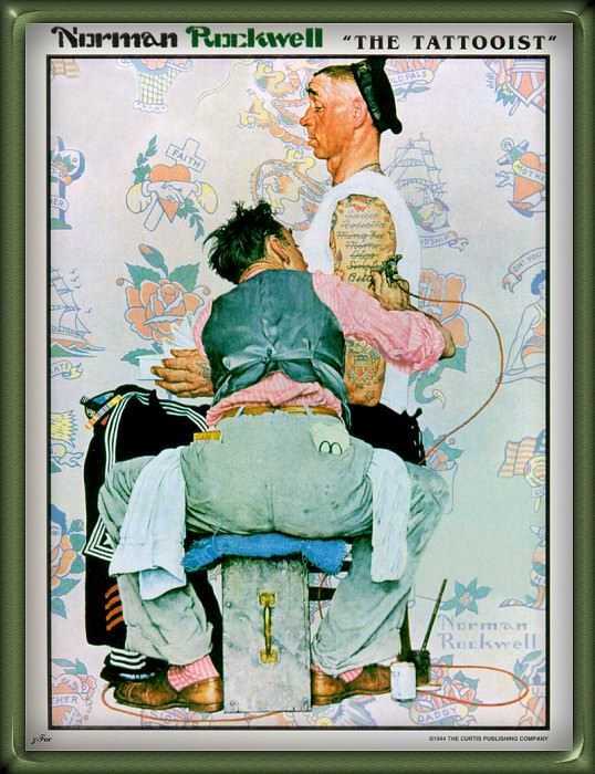 The Tattooist. Norman Rockwell