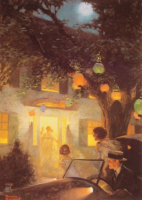 And the Symbol of Welcome is Light. Norman Rockwell