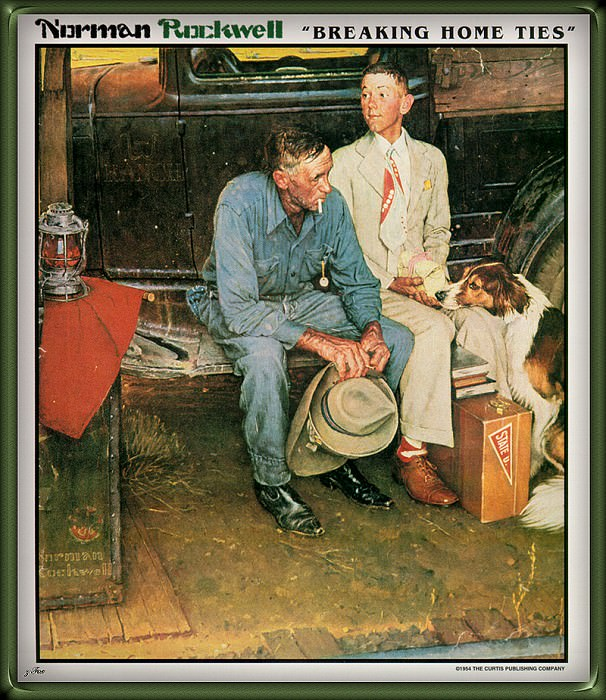 Breaking Home Ties. Norman Rockwell