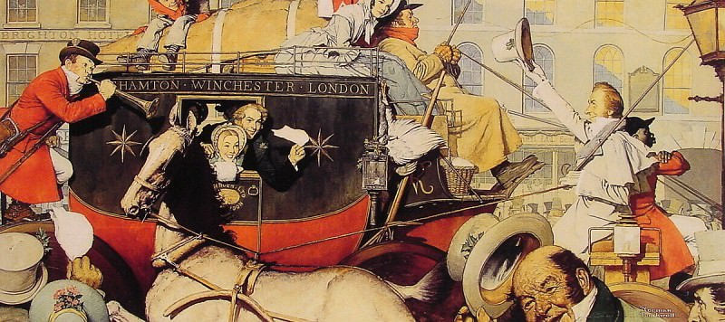 Winchester Stagecoach. Norman Rockwell