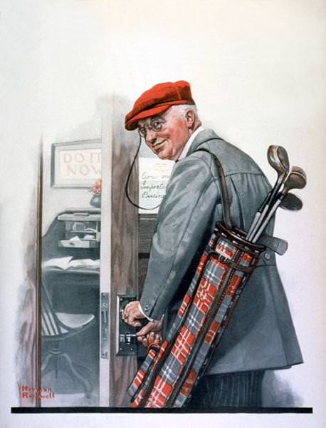 NR-GOLF. Norman Rockwell