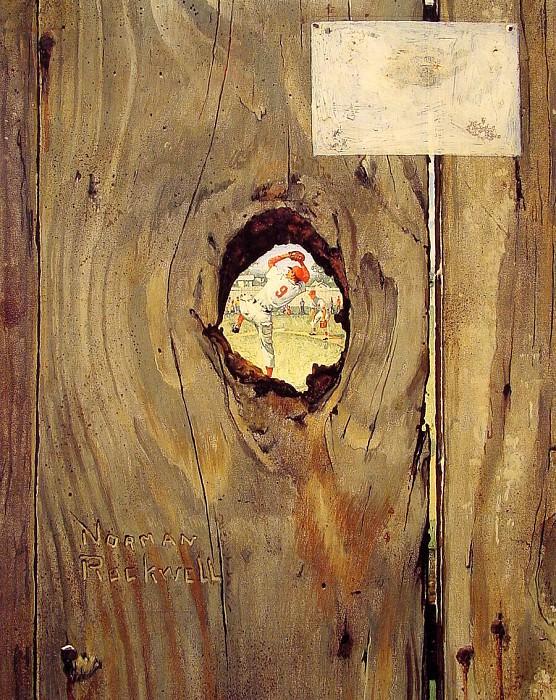 The Peephole. Норман Роквелл