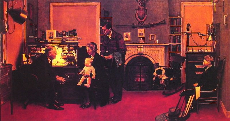 Visits a Country Doctor. Norman Rockwell
