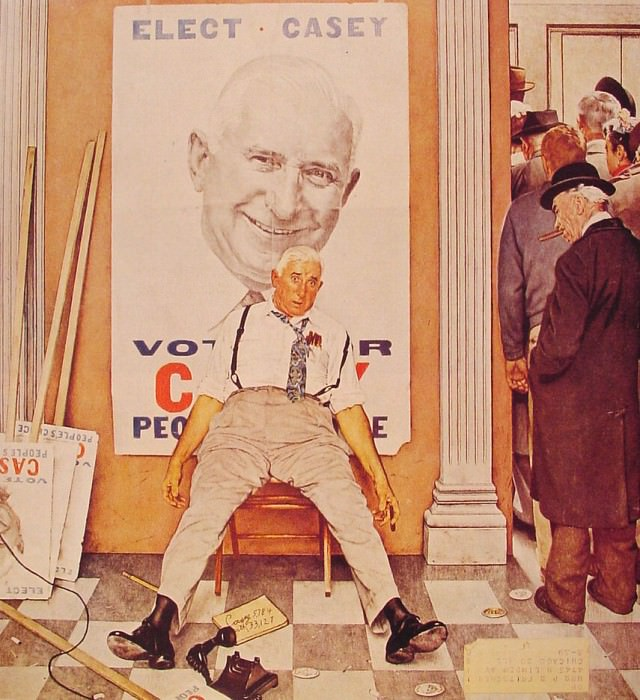 Elect Casey. Norman Rockwell