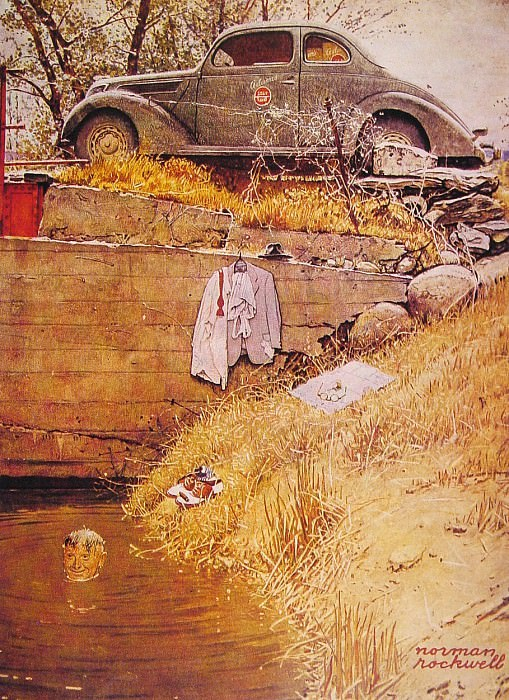 The Swimming Hole. Norman Rockwell