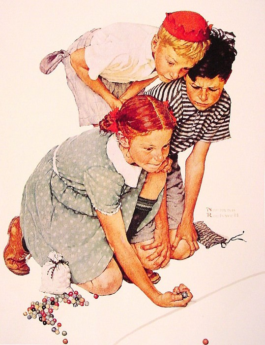 Marble Champion. Norman Rockwell