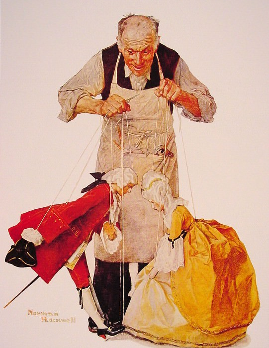 The Puppeteer. Norman Rockwell