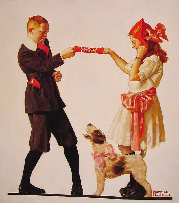 The Party Favour. Norman Rockwell