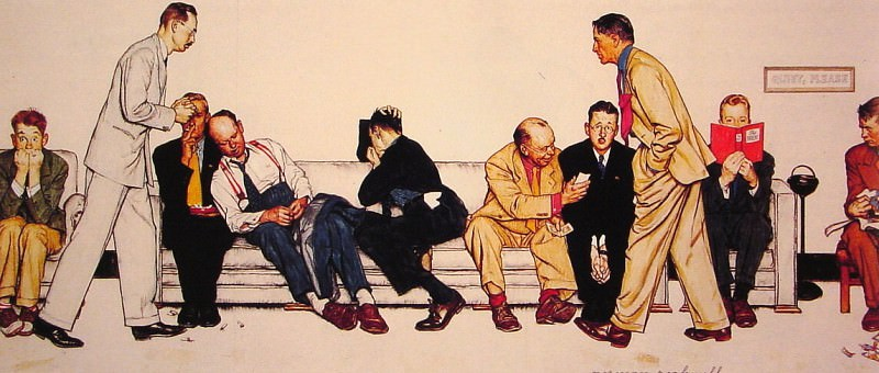 Maternity Waiting Room. Norman Rockwell
