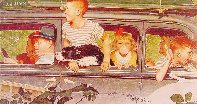 Going and Coming. Norman Rockwell