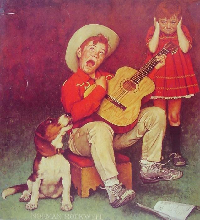The Music Man. Норман Роквелл
