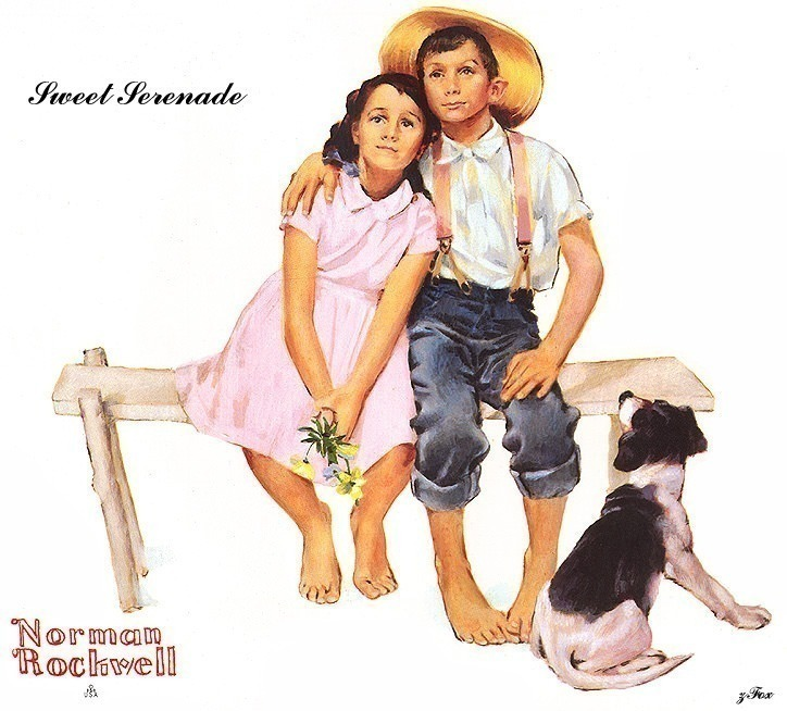 zFox 06 NR 02 Sweet Serenade. Norman Rockwell