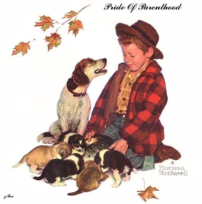 zFox 09 NR 02 Pride Of Parenthood. Norman Rockwell