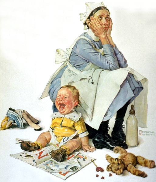 NR-NANNY. Norman Rockwell