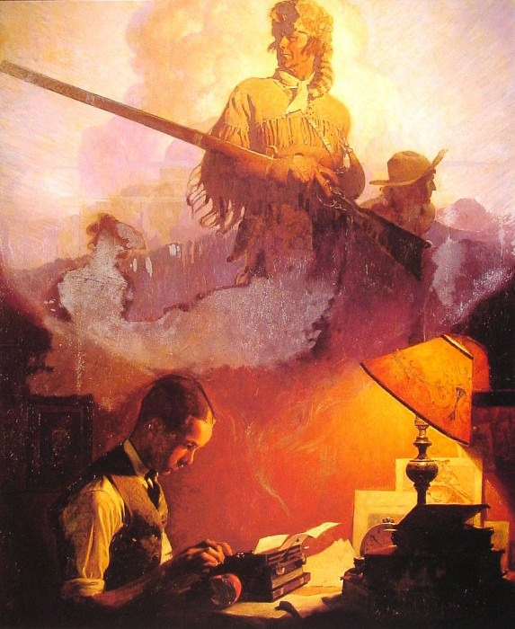And Daniel Boone Comes to Life. Norman Rockwell