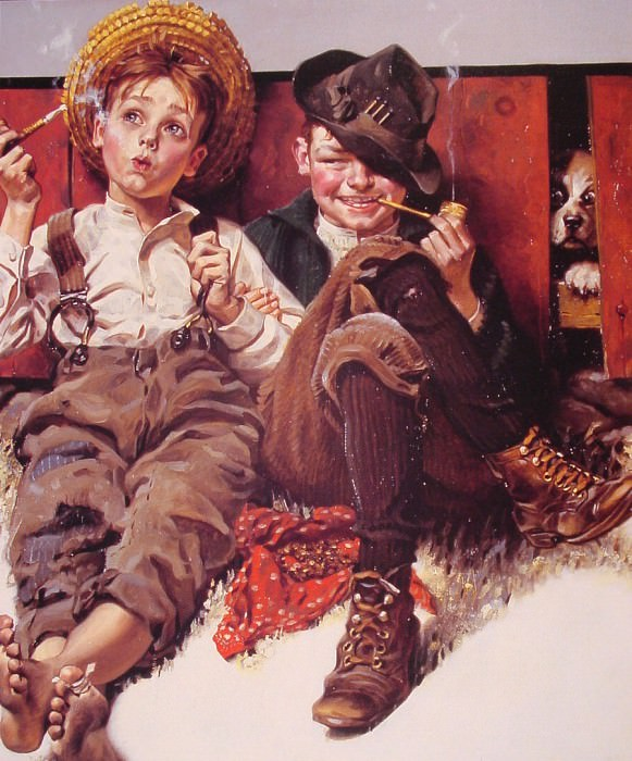 But Wait til Next Week. Norman Rockwell