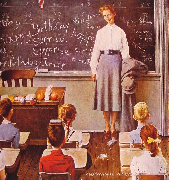 Teachers Birthday. Norman Rockwell