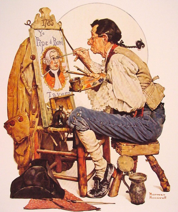 Pipe and Bowl. Norman Rockwell