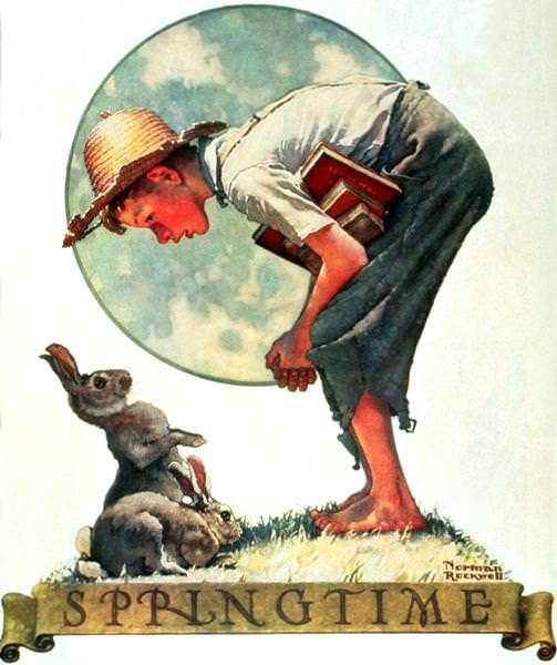NR-BUNNY. Norman Rockwell