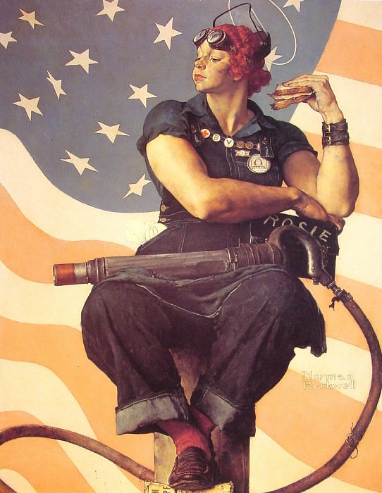 Rosie the Riveter. Norman Rockwell