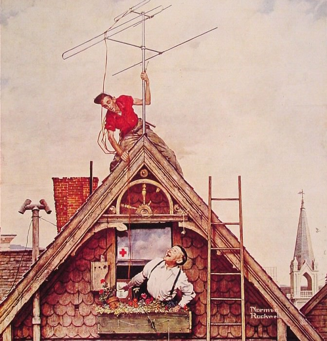 New Television Antenna. Norman Rockwell