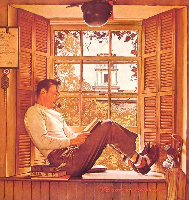 Willie Gillis in College. Norman Rockwell