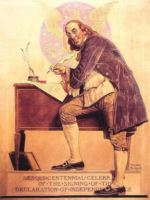 Ben Franklins Sesquicentennial. Norman Rockwell