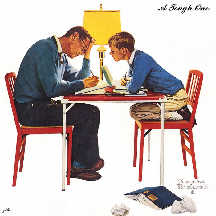 zFox 03 NR 02 A Tough One. Norman Rockwell
