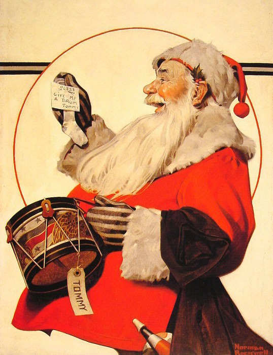 A Drum for Tommy. Norman Rockwell