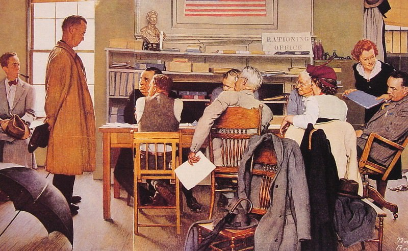 Visits A Ration Board. Norman Rockwell