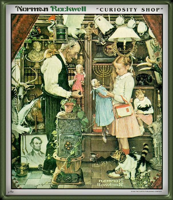 Curiosity Shop. Norman Rockwell