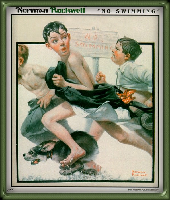No Swimming. Norman Rockwell