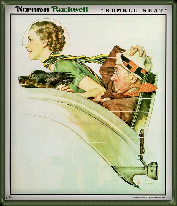 Rumble Seat. Norman Rockwell