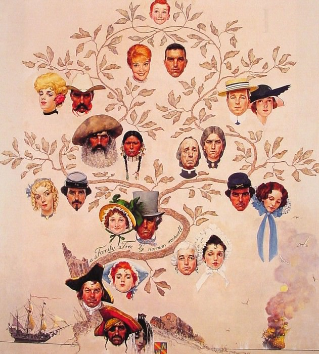 A family Tree. Norman Rockwell