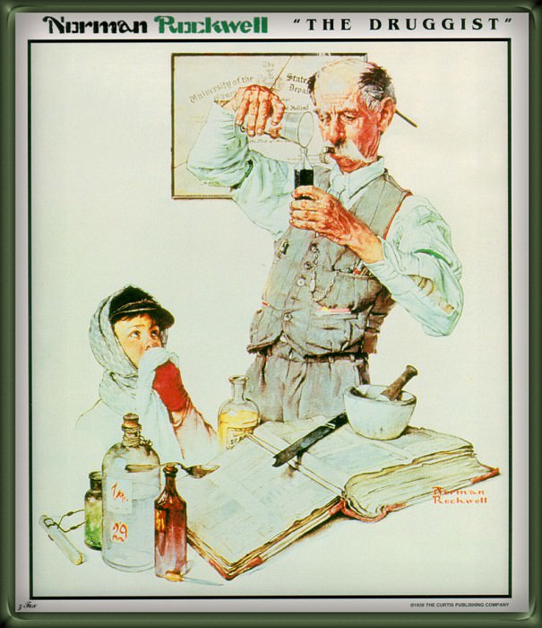 The Drugist. Norman Rockwell