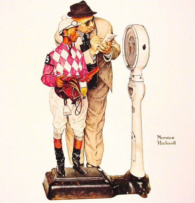 weighing in. Norman Rockwell