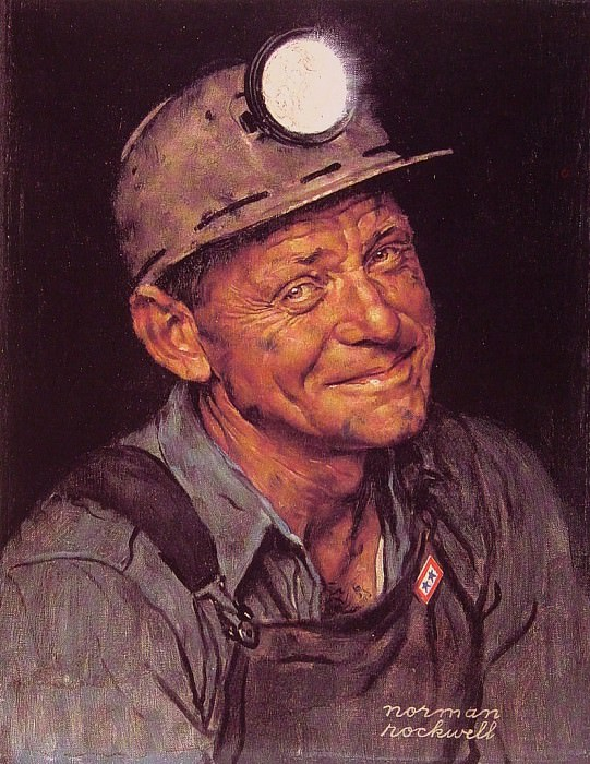 Mine Americas coal. Norman Rockwell