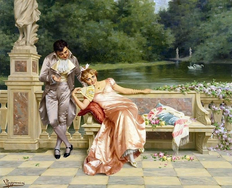 THE FLIRTATION. Vittorio Reggianini