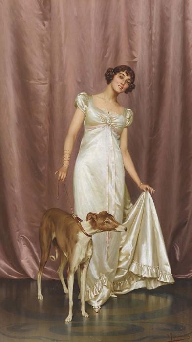 AN ELEGANT LADY. Vittorio Reggianini