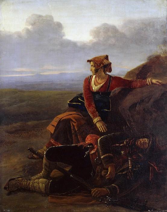 Sleeping robber. Louis Leopold Robert