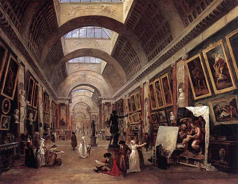 Design For The Grande Galerie In The Louvre. Hubert Robert