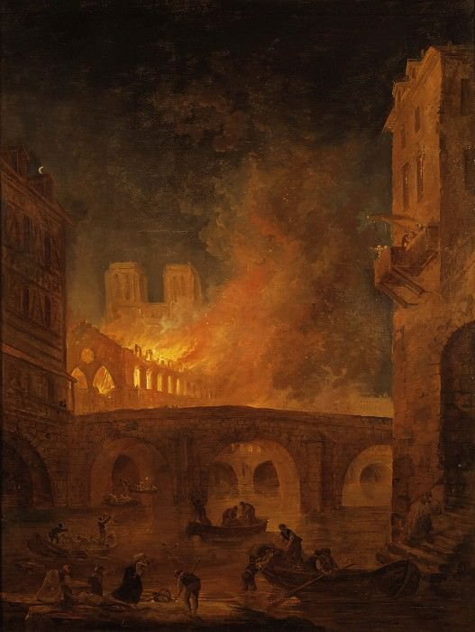 The Fire of Hôtel-Dieu in Paris 1772. Hubert Robert