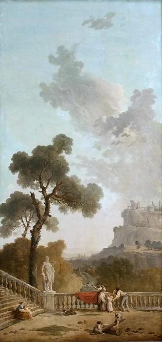 View from a Terrace. Hubert Robert