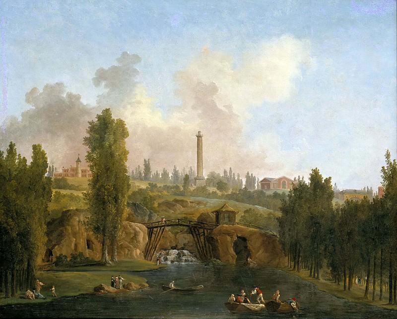 View of the Park of Méréville. Hubert Robert