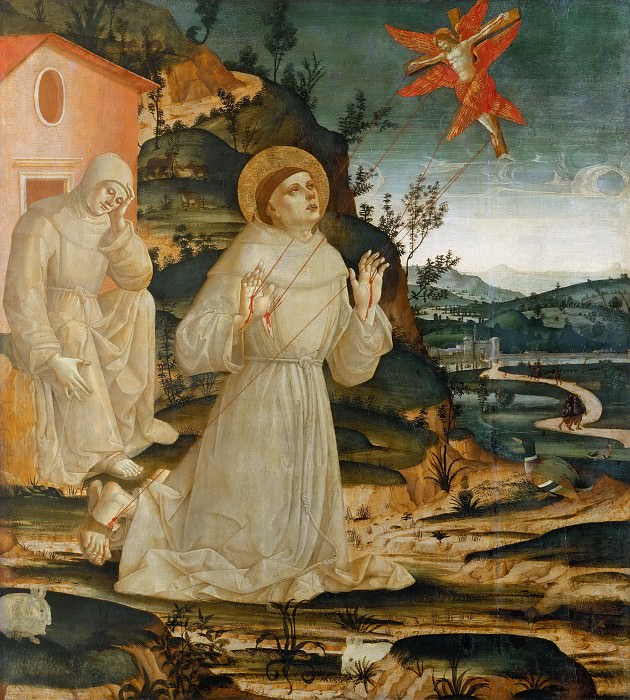 Saint Francis of Assisi Receiving the Stigmata. Antoniazzo Romano