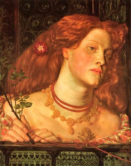Rossetti, Dante Gabriel - Fair Rosamund 1861 (end. Dante Gabriel Rossetti